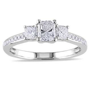 Miadora Signature Collection 14k White Gold 1ct TDW Radiant-cut Diamond Ring (G-H, I1-I2)