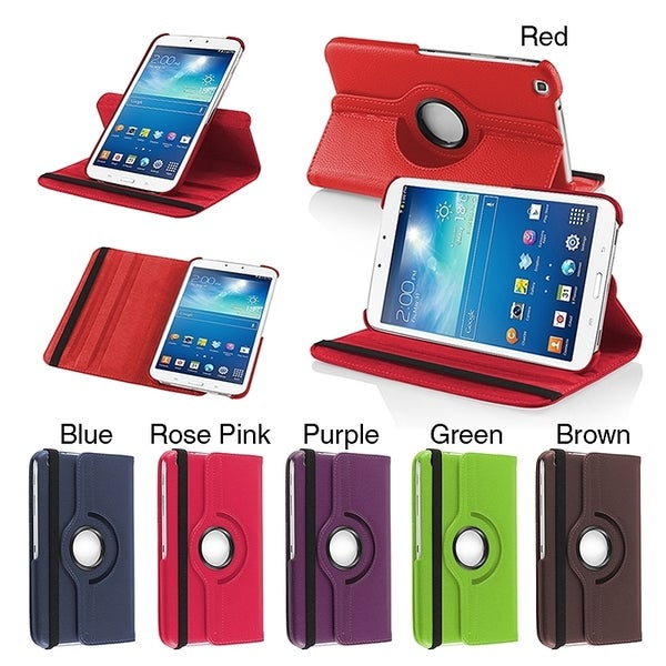 INSTEN 360 Rotating Swivel Stand Leather Cover Tablet Case Cover for Samsung Tab 3 8.0