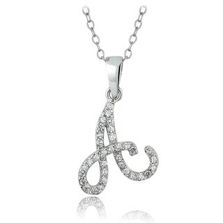 Link to ICZ Stonez Sterling Silver Cubic Zirconia Initial Necklace Similar Items in Necklaces