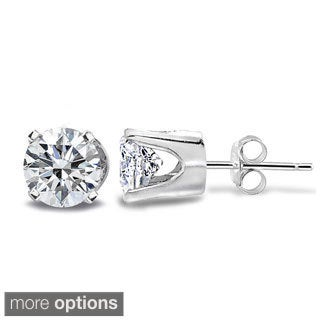 14k White or Yellow Gold 1/2ct TDW Diamond Round Stud Earrings