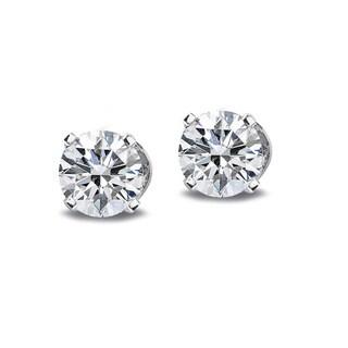 14k White or Yellow Gold 1/2ct TDW Diamond Round Stud Earrings (G-H, I2-I3)