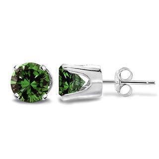 Db Designs 14k Gold 1 2ct Tdw Green Diamond Round Stud Earrings