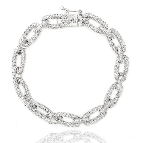 DB Designs 1ct TDW Diamond Chain Link Bracelet