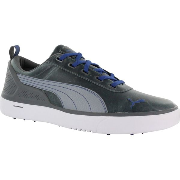 Puma Mens Monolite Spikeless White/ Monaco Blue Golf Shoes