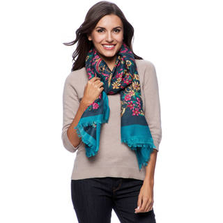 Women's Floral Status Print Scarf (2 options available)