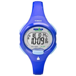 Timex T5K784 Women's Ironman Traditional 10-lap Mid-size Blue Watch