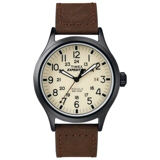 Timex Men's T49963 Expedition Scout Brown Leather Strap Watch|https://ak1.ostkcdn.com/images/products/8815185/P16049489.jpg?_ostk_perf_=percv&impolicy=medium