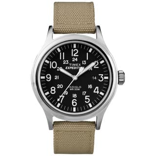 Timex T499629J Men's 'Expedition Scout' Tan Nylon Strap Watch|https://ak1.ostkcdn.com/images/products/8815187/P16049490.jpg?impolicy=medium