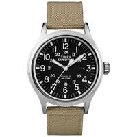 Timex  Men's 'Expedition Scout' Tan Nylon Strap Watch - black