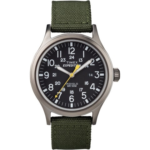 Timex Men's 'Expedition Scout' Green Nylon Strap Watch