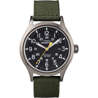 Timex T499619J Men's 'Expedition Scout' Green Nylon Strap Watch