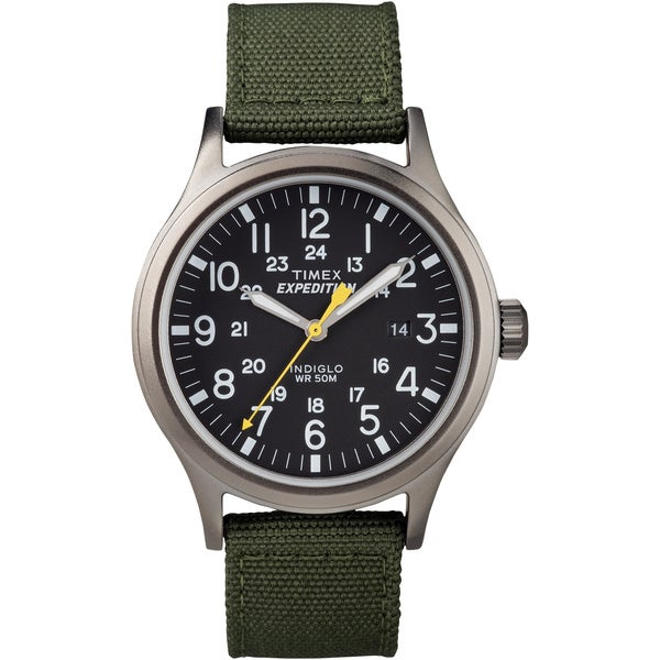 Timex  Men's 'Expedition Scout' Green Nylon Strap Watch -  ADULT