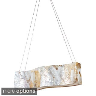 Varaluz Big Reclaimed Shell 4-light Linear Pendant