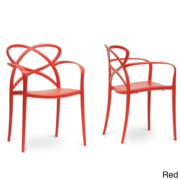 Baxton Studio Huxx Plastic Stackable Modern Dining Chair