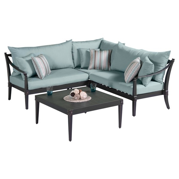 Shop Astoria Aluminum 4 Piece Outdoor Sectional And