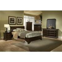 Alpine Furniture Chesapeake Rich Cappuccino 4-piece Bedroom Set