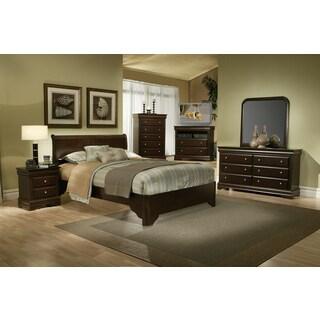 Alpine Furniture Chesapeake Rich Cappuccino 4-piece Bedroom Set