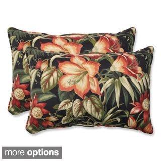 Outdoor Botanical Glow Oversized Rectangular Throw Pillow (Set of 2)