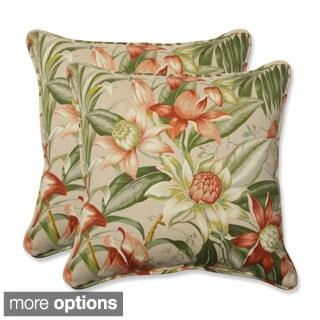 Outdoor Botanical Glow 18.5-inch Throw Pillow (Set of 2)