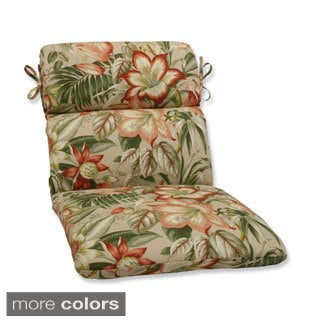 Outdoor Botanical Glow Tropical Rounded Corners Chair Cushion
