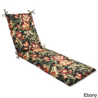 Outdoor Botanical Glow Tropical Chaise Lounge Cushion with Ties