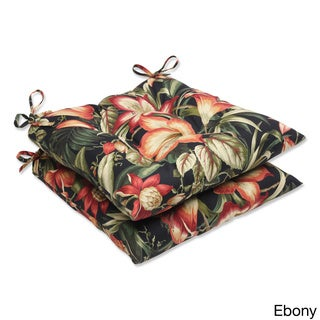 Outdoor Botanical Glow Tropical Wrought Iron Seat Cushion (Set of 2)