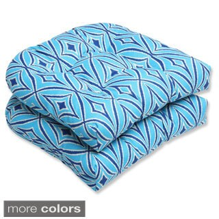 Outdoor Centro Geometric Wicker Seat Cushion (Set of 2)