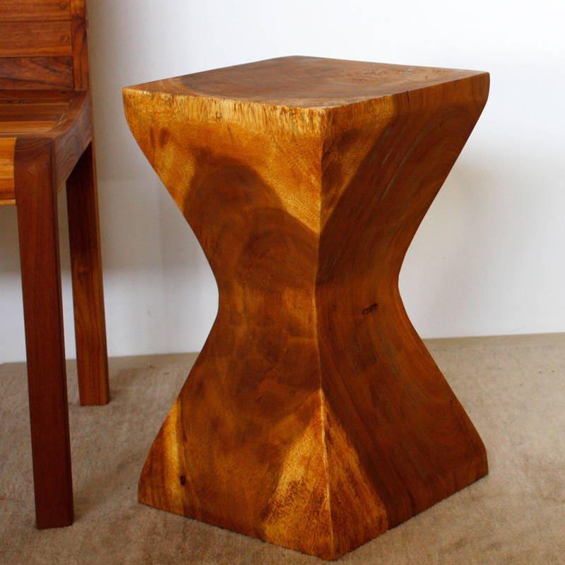 Haussmann Handmade 20-inch Oak Oil X-shaped Rest Stool (T...