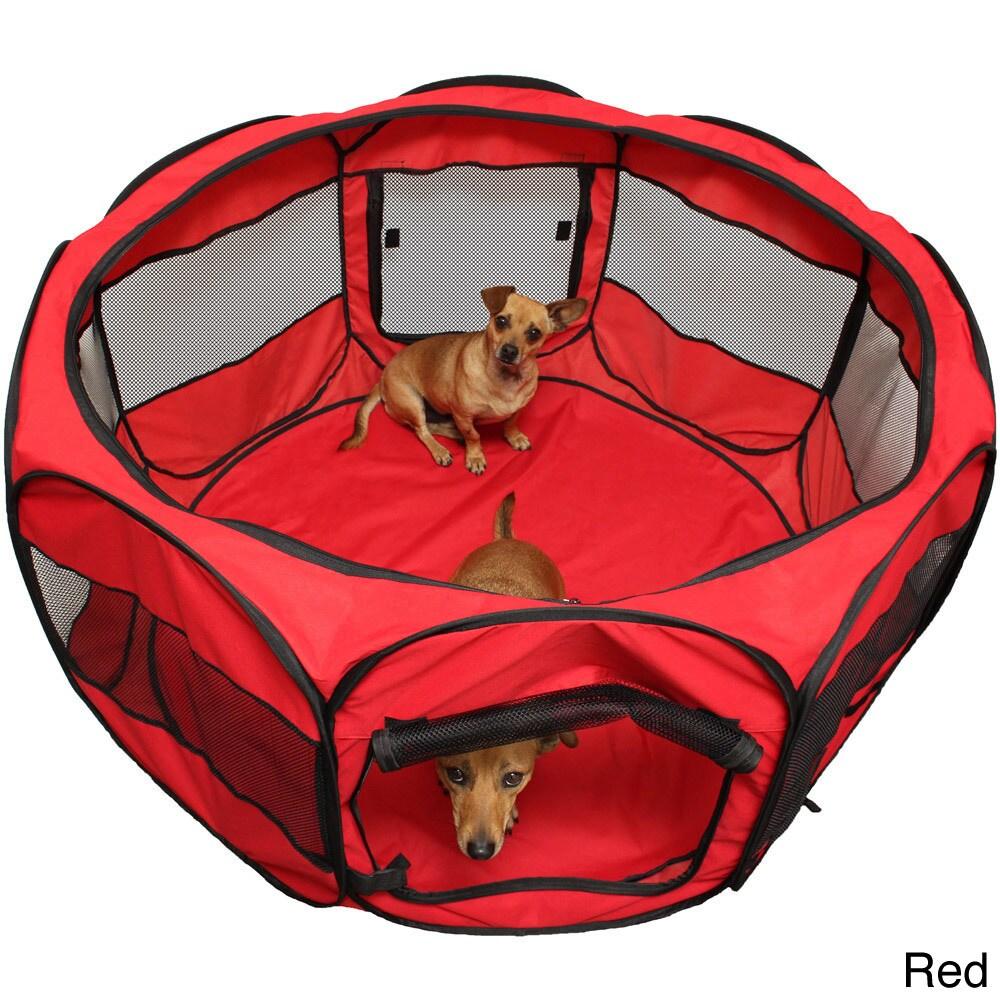 Oxgord Cat/ Dog Play Pen Comfort Travel Portable Pop-up S...