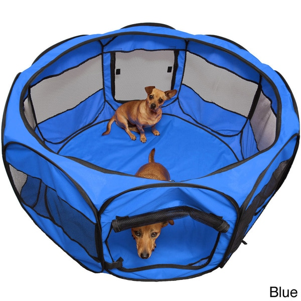 Oxgord Cat/ Dog Play Pen Comfort Travel Portable Pop Up Soft Sided Pet  Playpen   Free Shipping On Orders Over $45   Overstock.com   16050454