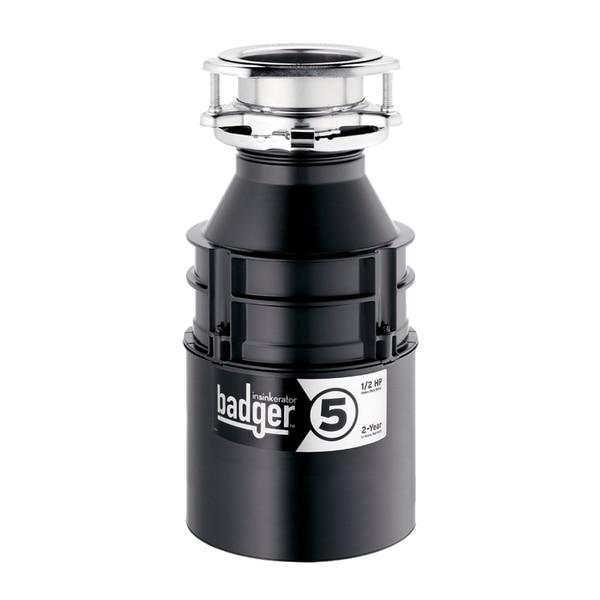 Insinkerator Badger 5 1 2 Hp Black Stainless Steel Plastic And Garbage
