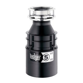 Insinkerator Badger-5 1/2 HP Black/Stainless Steel Plastic and Steel Garbage Disposal