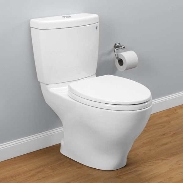 Toto CSTM Aquia Piece Cotton White Doubleflush Toilet - Toto bathroom