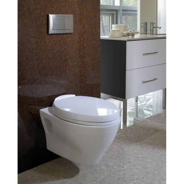 Gentil Toto Aquia Wall Hung Elongated Toilet Bowl With Skirted Design And  CeFiONtect CT418FG#01