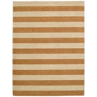 Barclay Butera Ripple Pumpkin Area Rug by Nourison (3'6 x 5'6)