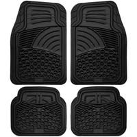 Oxgord Sea Shell Rugged 4-piece PVC Floor Mat Set