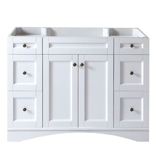 Virtu USA Elise 48-inch White Single-sink Cabinet Only Bathroom Vanity