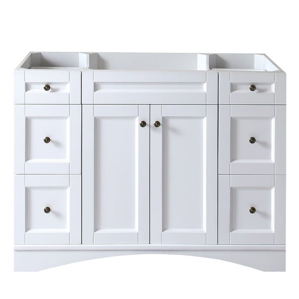Shop virtu usa elise 48 inch white single sink cabinet - 48 inch white bathroom vanity with top ...