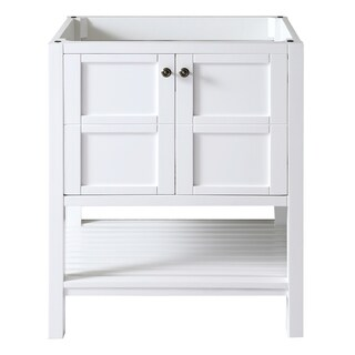 Virtu USA Winterfell 30-inch White Single-sink Cabinet Only Bathroom Vanity