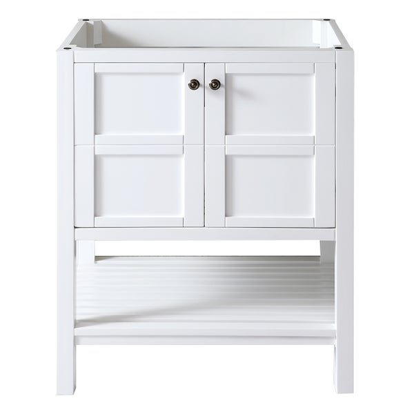 Shop virtu usa winterfell 30 inch white single sink - 30 inch single sink bathroom vanity ...