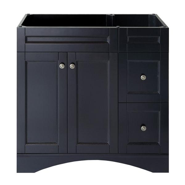 Shop virtu usa elise 36 inch espresso single sink bathroom vanity cabinet free shipping today for 36 inch espresso bathroom vanity