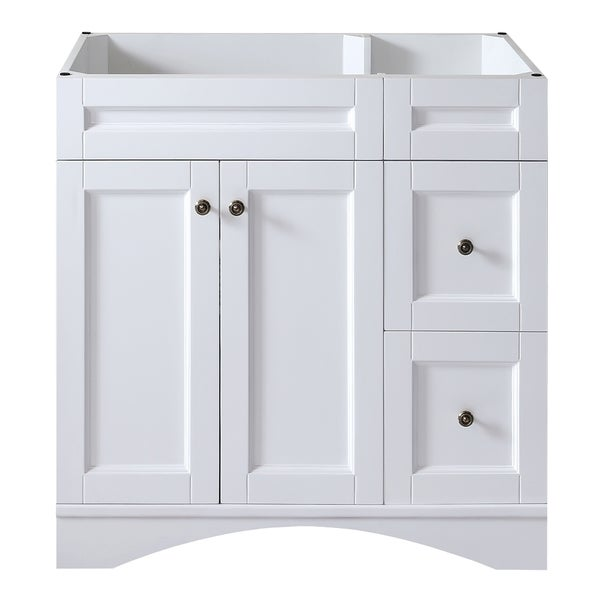 Shop virtu usa elise 36 inch white single sink bathroom vanity cabinet free shipping today for 66 inch bathroom vanity cabinets