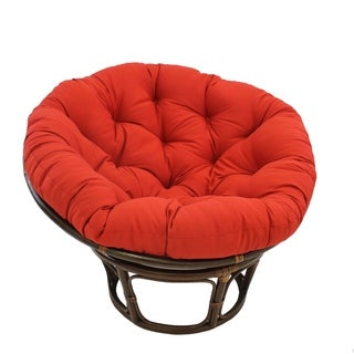 Link to Blazing Needles 48-inch Solid Twill Papasan Cushion Similar Items in Decorative Accessories