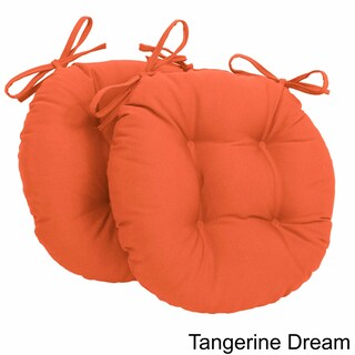Blazing Needles Tufted Twill Round Chair Cushions (Set of 2) (Option: Tangerine Dream)