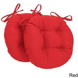 Blazing Needles Tufted Twill Round Chair Cushions (Set of 2) (3 options available)