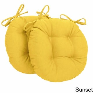 Blazing Needles 16x16-inch Round Twill Chair Cushions (Set of 2)