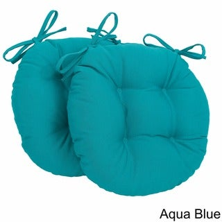 Link to Blazing Needles Tufted Twill Round Chair Cushions (Set of 2) - 16 x 16 Similar Items in Outdoor Cushions & Pillows