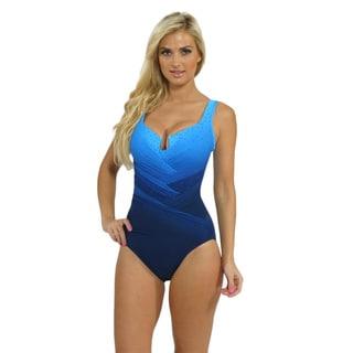 Miraclesuit 'Gandalf' Blue Keyhole Neck One-piece Swimsuit
