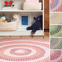 Cake Walk Indoor/Outdoor Braided Reversible Rug USA MADE - 6' x 9'