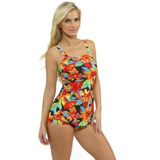 Shop Island Pearl Women S Black Tropical Sarong One Piece